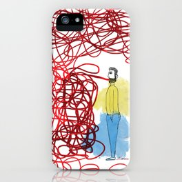 Something hard to say iPhone Case