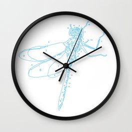 PBN Dragonfly Wall Clock