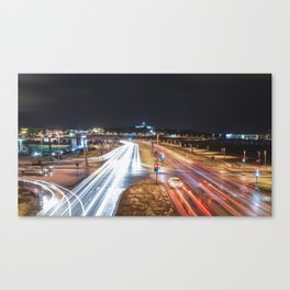 Moving at night Canvas Print