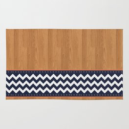 Wood and Chevron pattern Rug