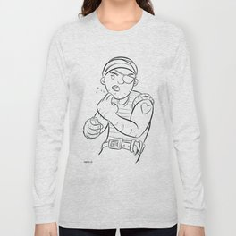 Stowaway Pirate - ink Long Sleeve T-shirt