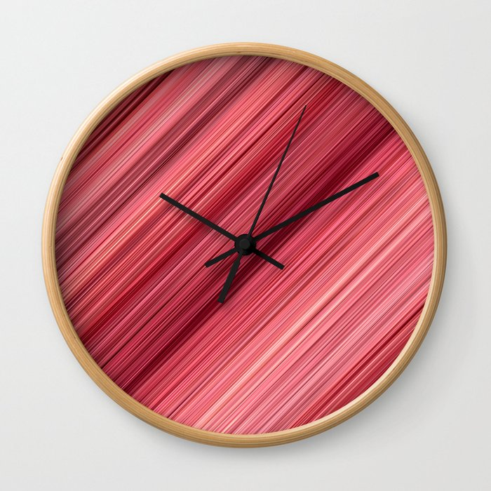 Ambient 33 in Red Wall Clock