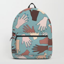 Nail Expert Studio - Colorful Manicured Hands Pattern Backpack