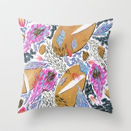 Objects in Flight Throw Pillow