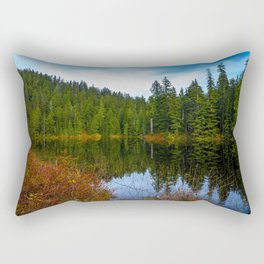 USA Ashland Lakes Spruce Nature Lake Forests forest Rectangular Pillow