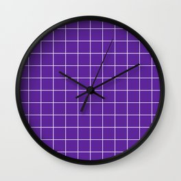 Grape Grid Wall Clock