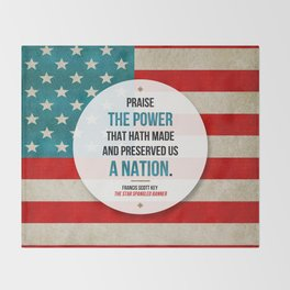 Preserved us a Nation Throw Blanket