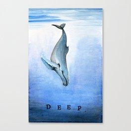 Deep - Whale 21 Canvas Print