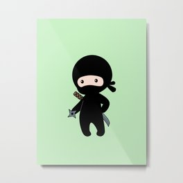 Tiny Ninja Metal Print
