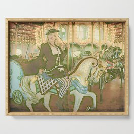 """""""Miss Primm's Wild Ride"""" by Vamplified Serving Tray"""