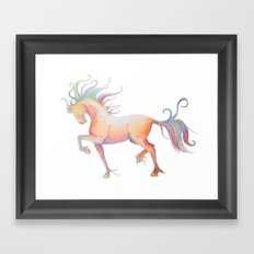 My Technicolor Pony Framed Art Print