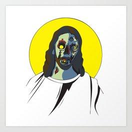 Zombie Jesus Art Print