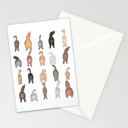 Cat butts Stationery Cards