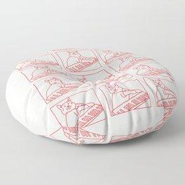 Cat in Meme Major Floor Pillow