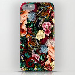 Floral and Animals pattern II iPhone Case
