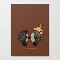 Wish you were hedgehog Canvas Print