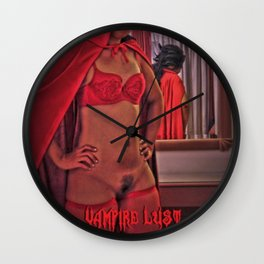 Vampire, Fetish Lust,Cartoon, Fantasy, Fright Night Edition Wall Clock