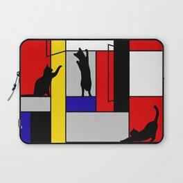 cat Mondrian Laptop Sleeve