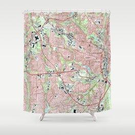 Fayetteville North Carolina Map (1997) Shower Curtain