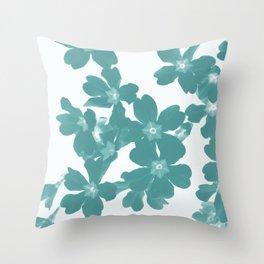 Floral Teal Throw Pillow