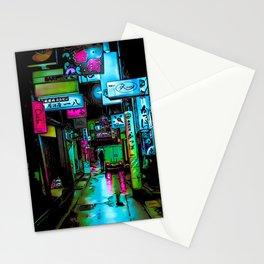 Cyberpunk neons Stationery Cards