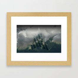 Cloudy mountains Framed Art Print