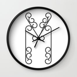 """Letter """"M"""" in beautiful design Fashion Modern Style Wall Clock"""