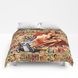 Retro Ads Comforters