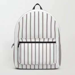 Silver Thistle Pinstripe on White Backpack