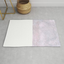 Minimal Watercolor Purple Pink Texture on paper Rug