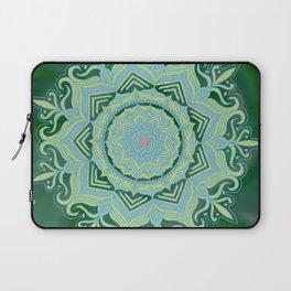 Green Swirl Mandala Laptop Sleeve