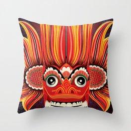 Sri Lankan Fire Demon Throw Pillow