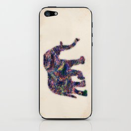 Painted Elephant - Abstract Digital Animal Painting iPhone Skin