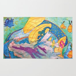 Bananas and Pears in Space Rug