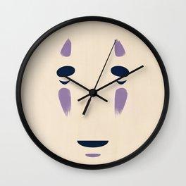 Spirited Away - No Face Minimalist, Miyazaki, Studio Ghibli Wall Clock