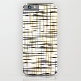 Line Art - Gold and Black Lines on White - Mix and Match with Simplicty of Life iPhone Case