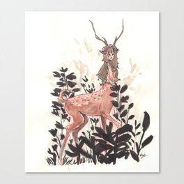 Deer girl Canvas Print