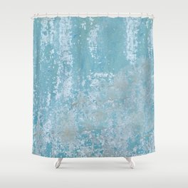 Vintage Galvanized Metal Shower Curtain