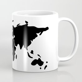 modern black world map Coffee Mug