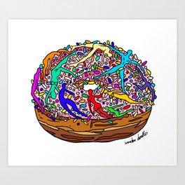 Human Donut Sprinkles Art Print