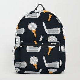 Golf Pattern (Black) Backpack