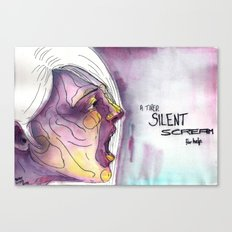 A Tired Silent Scream for Help Canvas Print