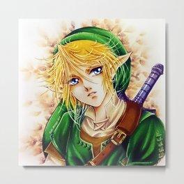 Link, The legend of Zelda, by Suki Manga Art Metal Print
