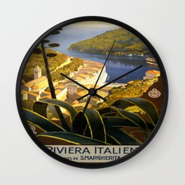 Vintage poster - La Riviera Italienne Wall Clock