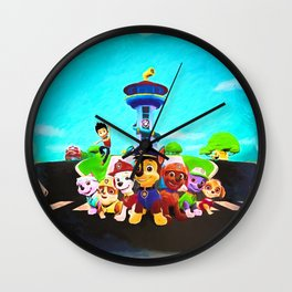 Assembled & Ready For Rescue! Wall Clock