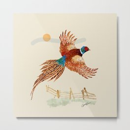 male pheasant Metal Print