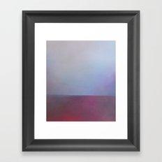 Alum Strata - Red landscape abstract art Framed Art Print