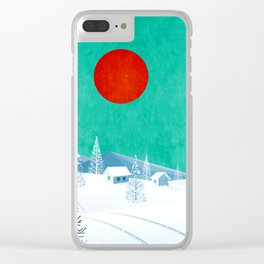 Winter Nature Clear iPhone Case