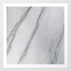 Sophisticated Polished White Marble Art Print