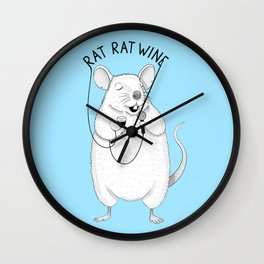 Rat singing UB40 | Animal Karaoke | Illustration | Blue Wall Clock